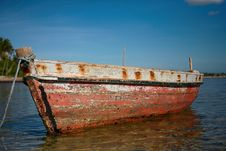 Red Dhow Stock Photography