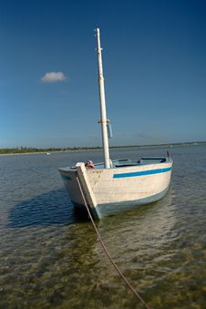 White Dhow Royalty Free Stock Photography