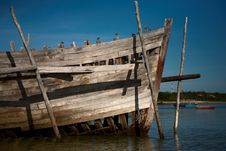 Free Front Quarterof Big Dhow Stock Photo - 3938860