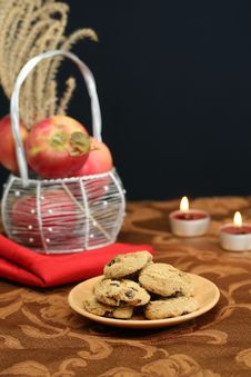 Free Cookies And Fruit Stock Photography - 3939092