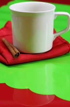 Free Coffee Cup And Cinnamon Stock Image - 3939101