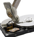 Free Computer Hard Disk Under Hammer Stock Image - 3949041