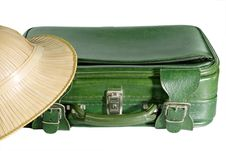 Free Suitcase And Safari Hat Stock Images - 3940174