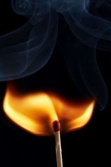 Free Smoke By Fire Stock Photo - 3940270