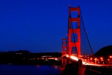 Free Golden Gate Bridge Under The Stars Stock Images - 3941334