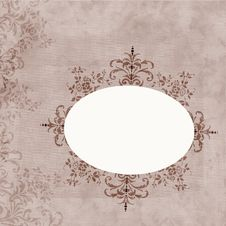 Free Colored Ornate Frame On Milk Coffee Background Royalty Free Stock Image - 3941966