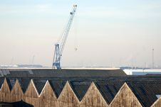 Free Warehouses In The Port Of Antwerp Royalty Free Stock Photography - 3943457