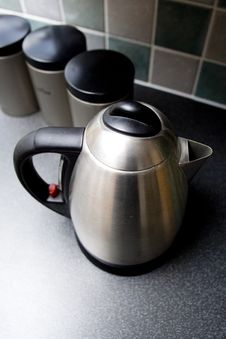 Free Kettle With Containers Stock Photo - 3943620