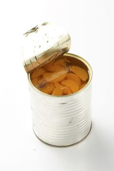 Tin With Tangerines Royalty Free Stock Photo