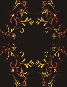 Free Floral Frame For Greeting Card - Royalty Free Stock Photo - 3943995