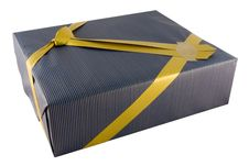 Free Present And Golden Ribbon Royalty Free Stock Photography - 3944237