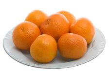 Free Tangerines On White Plate Royalty Free Stock Photography - 3944697
