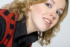 Free Portrait Of A Blond Curly Woman Stock Photo - 3945780