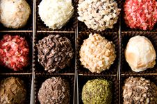 Free Box Of Different Luxury Handmade Chocolates Royalty Free Stock Photos - 3946408