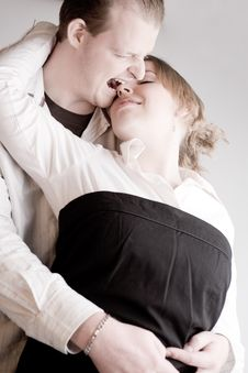 Free Portrait Of A Young Biting Loving Couple Stock Photos - 3946433