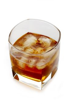 Whiskey And Ice In A Glass Stock Image