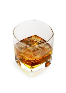Free Whiskey On The Rocks In A Glass Royalty Free Stock Image - 3947256