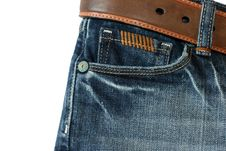 Free Jeans With A Belt 2 Royalty Free Stock Photo - 3947935