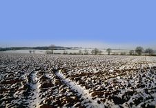 Free Warwickshire Farmland Covered In Snow Winter Stock Photography - 3949182