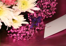 Free Flowers With A Card Royalty Free Stock Images - 3949429
