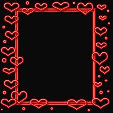 Free Neon Valentine Frame Royalty Free Stock Photo - 3949525