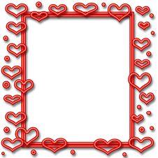 Free Neon Valentine Frame Royalty Free Stock Photos - 3949528