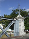 Free Column At One Side Of A Road Bridge Over A River I Stock Photography - 3951892