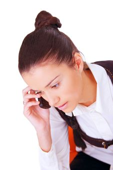 Free Female Businesswoman Making Phone Call Royalty Free Stock Photography - 3950557
