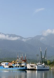 Large Fishing Boats Royalty Free Stock Image