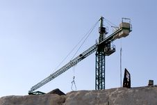 Crane On Cliff Stock Images
