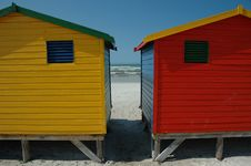 Free Changing Huts At Muizenberg Royalty Free Stock Photos - 3951688