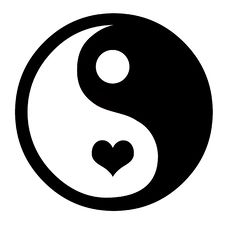 Free Yin Yang With Hearts Stock Photo - 3951840