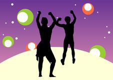Free Couple Dancing With A Party Ba Royalty Free Stock Images - 3952129
