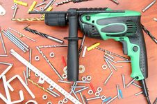 Free Electric Drill Royalty Free Stock Photos - 3952258