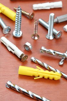Free Drills, Screws & Plugs Royalty Free Stock Image - 3952266