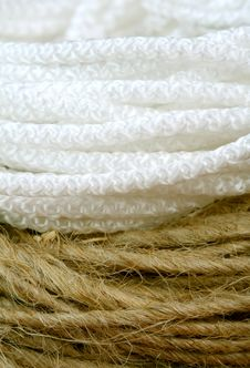 Free Nylon And Hemp Cord Royalty Free Stock Photos - 3952298