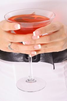 Free Cocktail In Hand Royalty Free Stock Images - 3954169