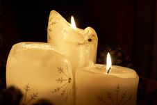 Free Trio Of Xmas Candles Stock Photos - 3954883