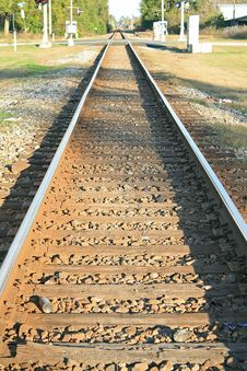 Free Lonely Train Track Stock Image - 3955091