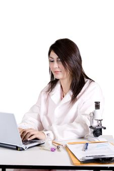 Free Lab Tech Assistant Stock Image - 3955221