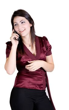 Free Beautiful Women In Cellphone Stock Image - 3955301