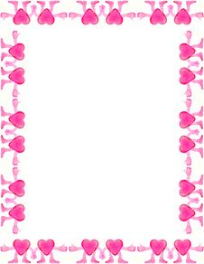 Heart Framed Page Royalty Free Stock Photo