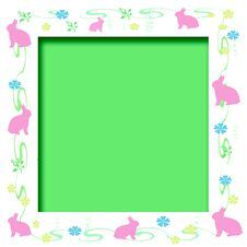 Free Easter Bunny Frame Royalty Free Stock Photos - 3956118