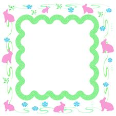 Free Easter Bunny Frame Stock Images - 3956124