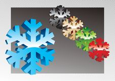 Free Vector Snowflakes Stock Photography - 3956882