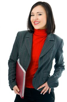 Free Young Woman With Folder Documents Stock Photo - 3957700