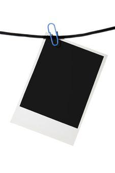 Free Palaroid Blank Clip Rope Royalty Free Stock Image - 3958026