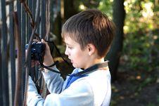 Free Boy Takes A Photograph Royalty Free Stock Photo - 3958895
