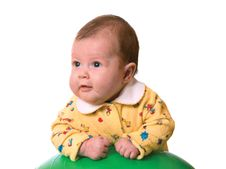 Free Baby On Ball For Massage Royalty Free Stock Images - 3958919