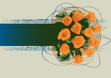 Free Orange Rose Banner Stock Image - 3959341